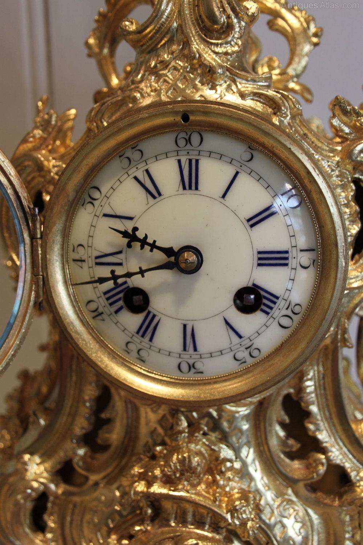 Antique Mantel Clocks >> Antiques Atlas - French Gilt Brass Mantel Clock