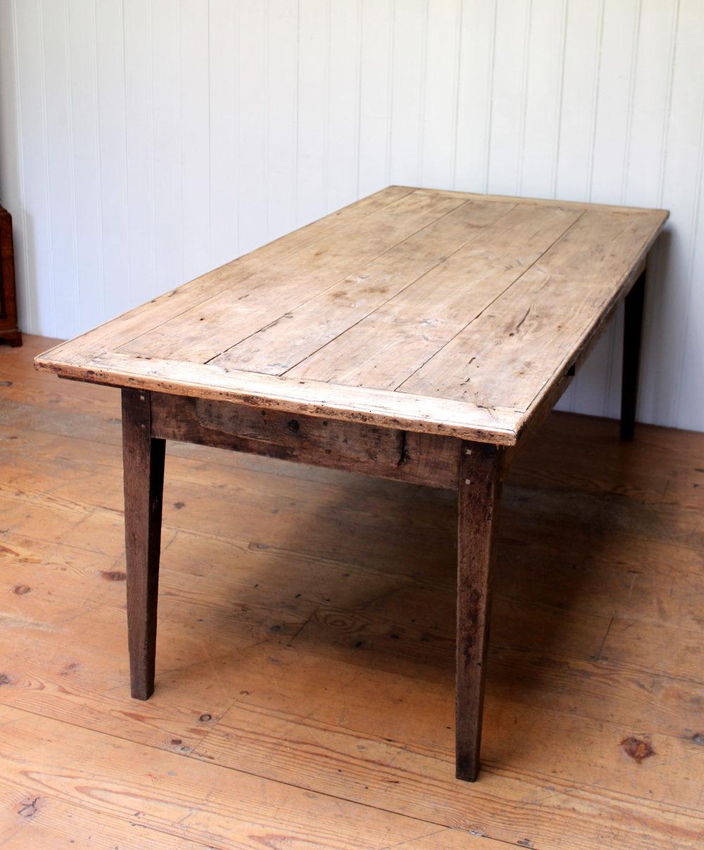 French Oak Framed Farmhouse Table Having A Poplar Antique Farmhouse Tables  ...