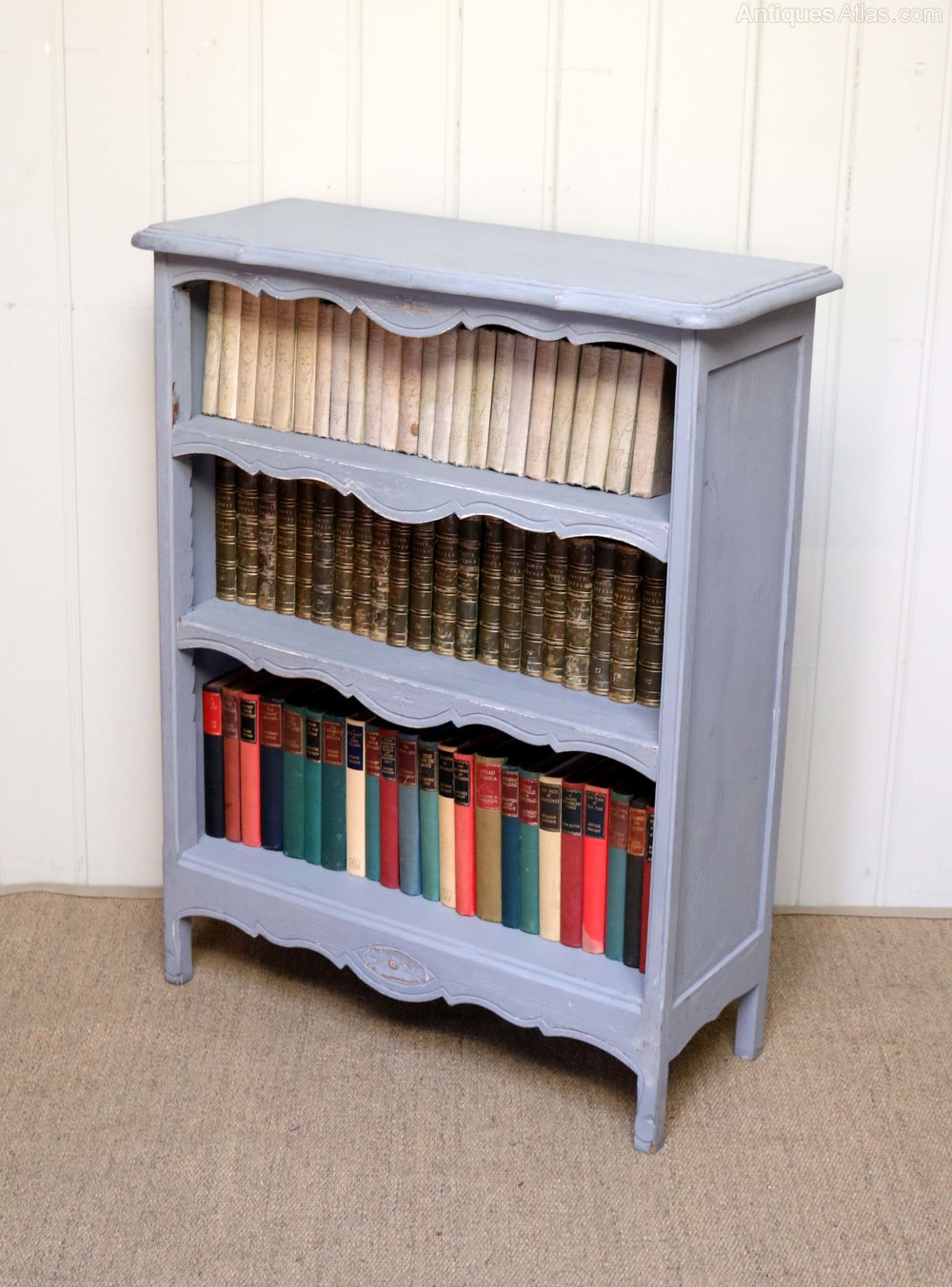 Antiques Atlas French Painted Open Bookcase