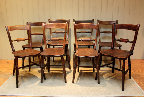 Harlequin Set Of Eight Kitchen Chairs - Harlequin Set Of Eight Kitchen Chairs - Antiques Atlas