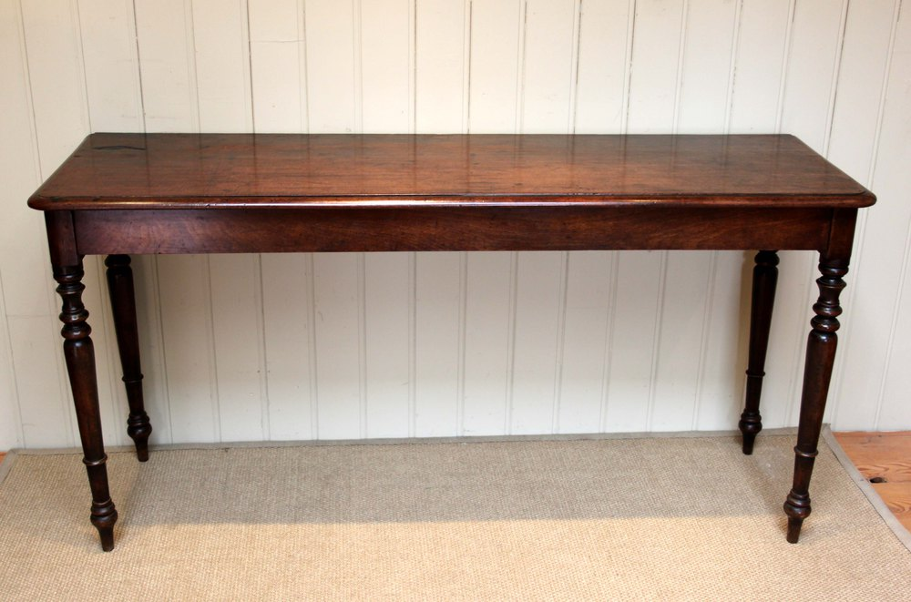 Merveilleux Long Mahogany Side/Hall Table ...
