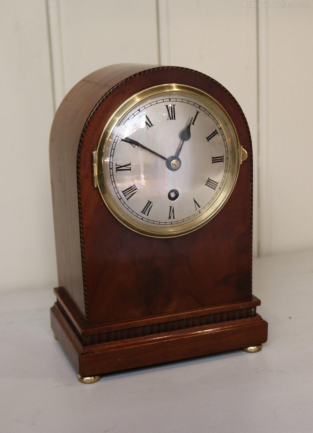 Antiques Atlas - Mahogany Arch Top Mantel Clock (England ...