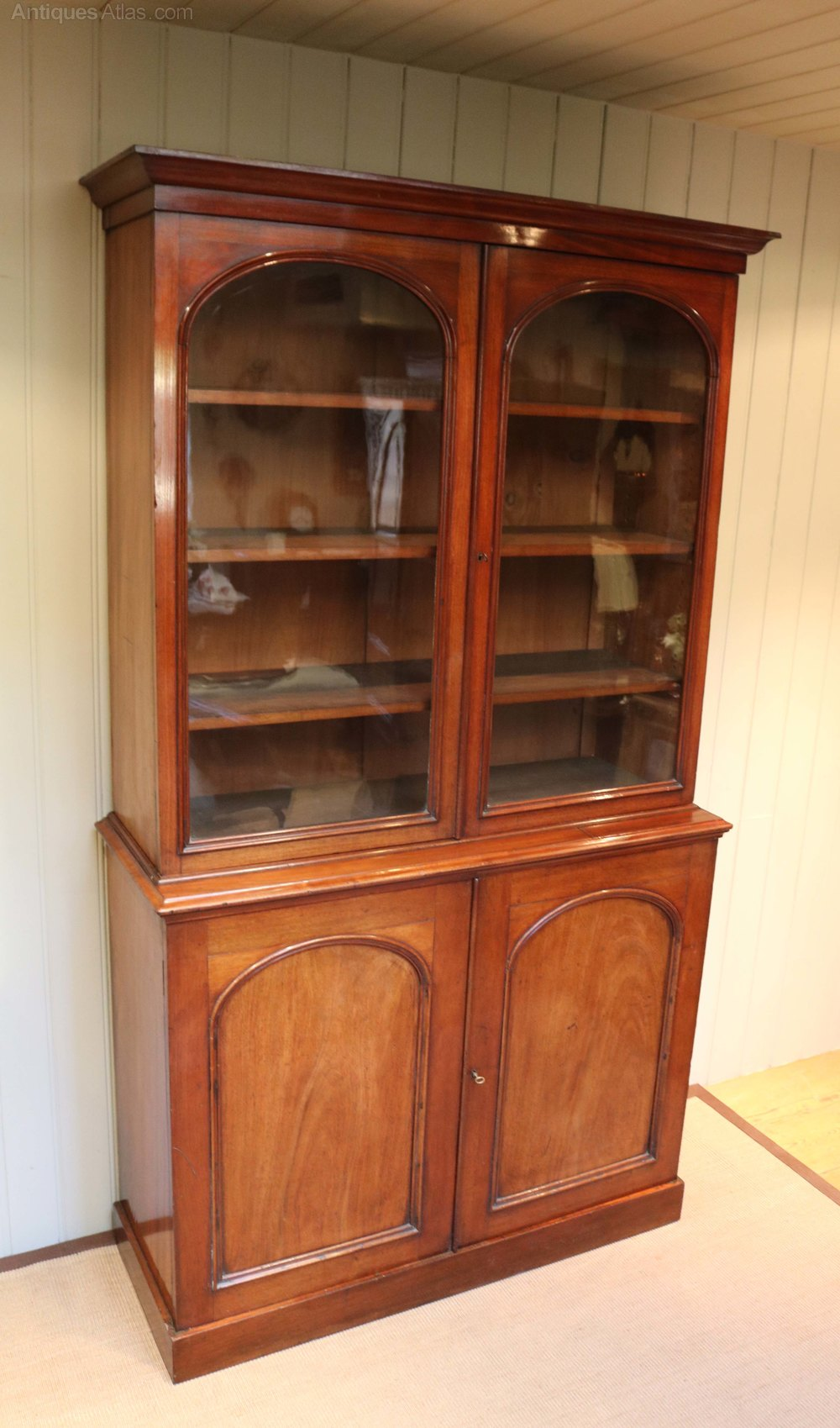 Mahogany cabinet bookcase antiques atlas for Kitchen cabinets 50cm wide