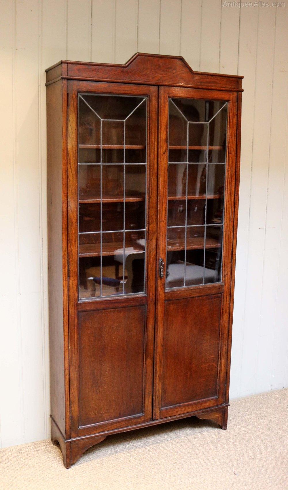 Oak Art Deco Cabinet Bookcase - Antiques Atlas