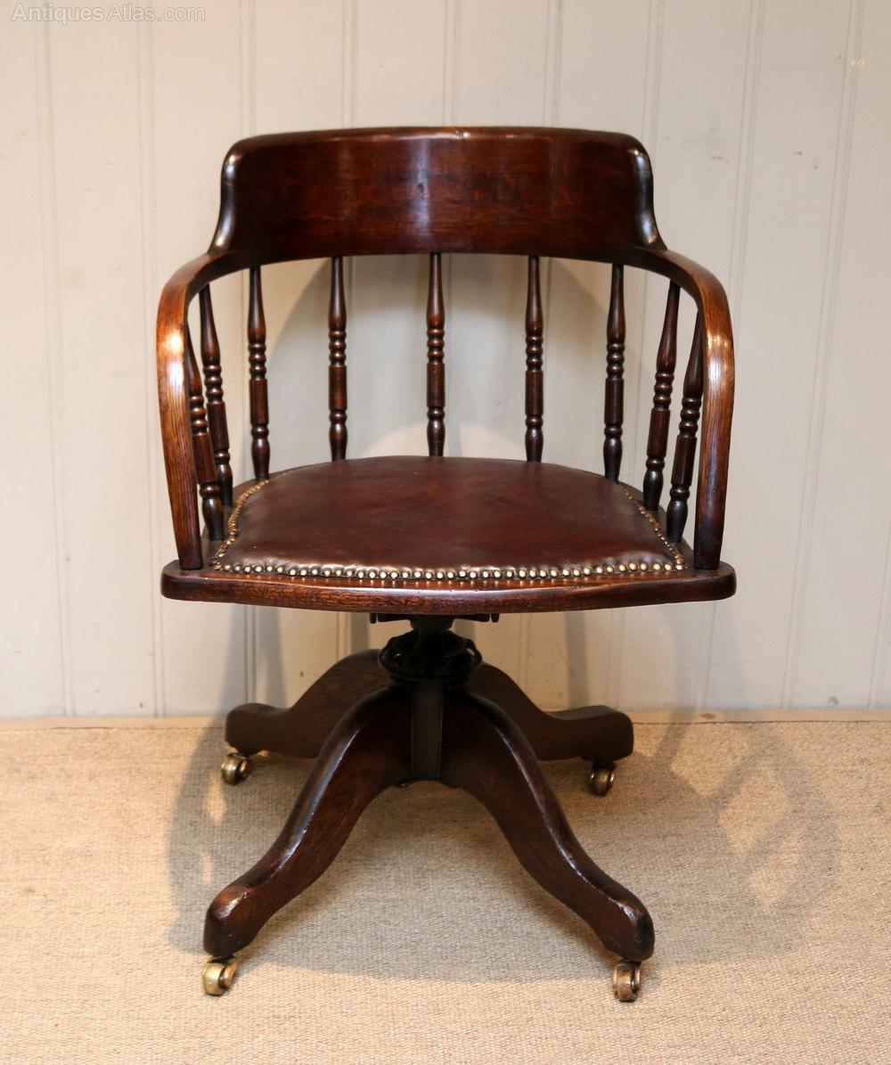 Oak Desk Chair Antiques Atlas