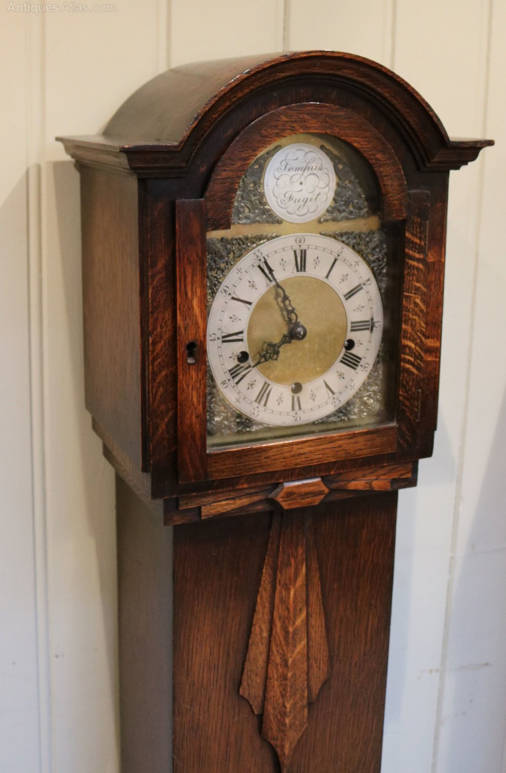 Antiques Atlas Oak Grandmother Clock England C 1930