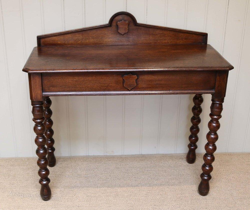 Antique Foyer Furniture : Oak hall table antiques atlas