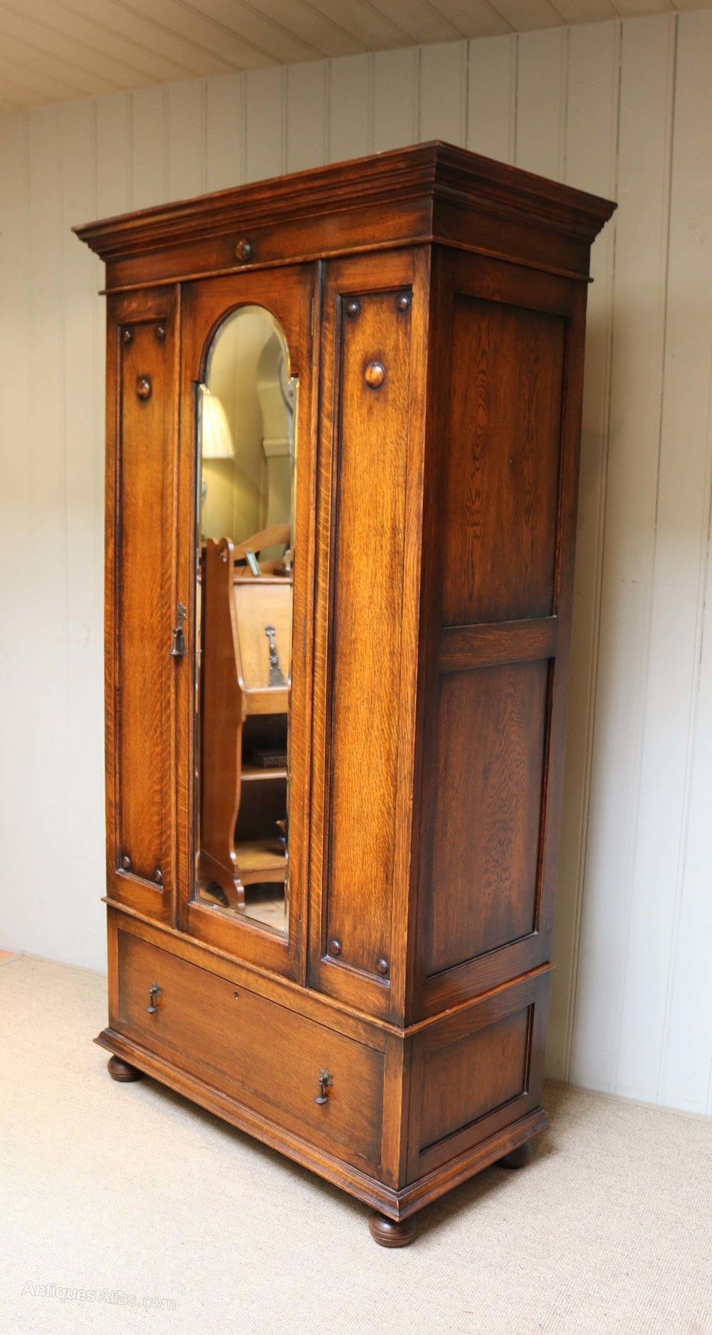 Oak Single Door Wardrobe Antiques Atlas