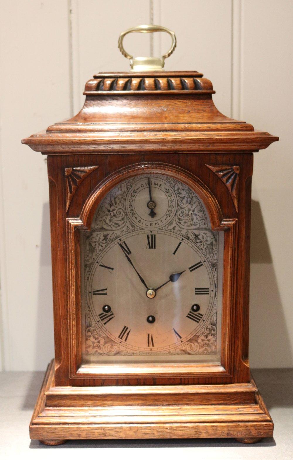 Antiques Atlas - Oak Westminster Chime Bracket Clock ...