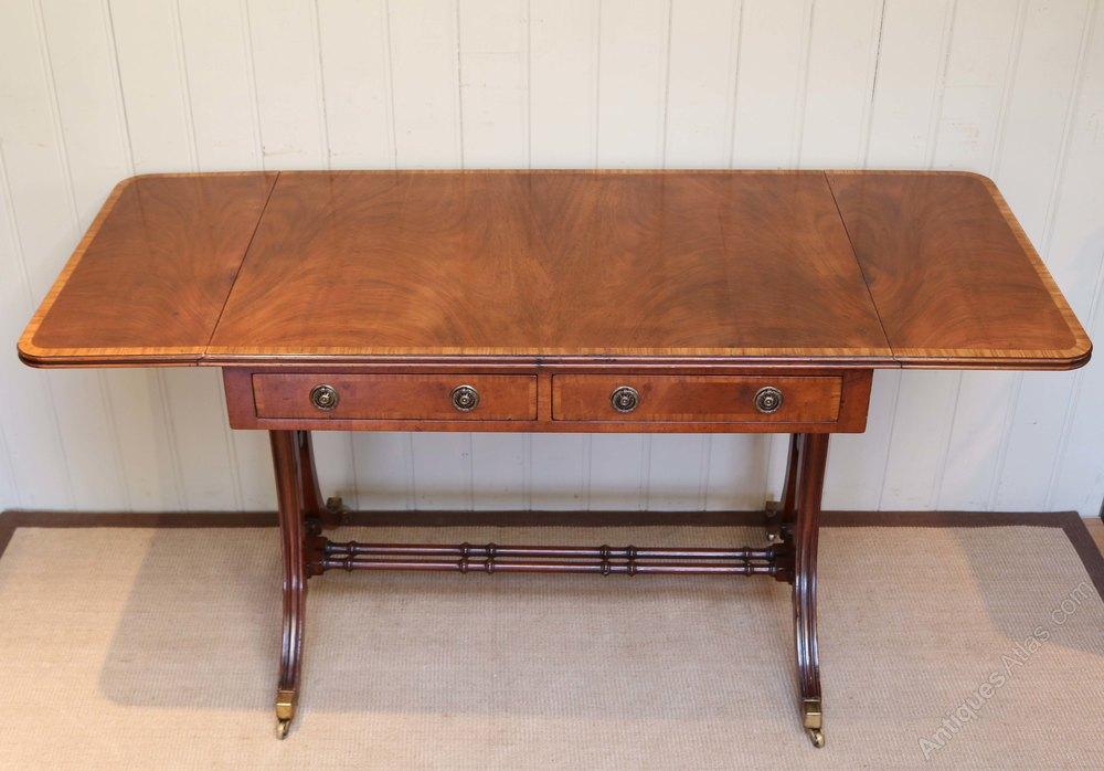 Regency Style Mahogany Drop Leaf Sofa Table Antiques Atlas