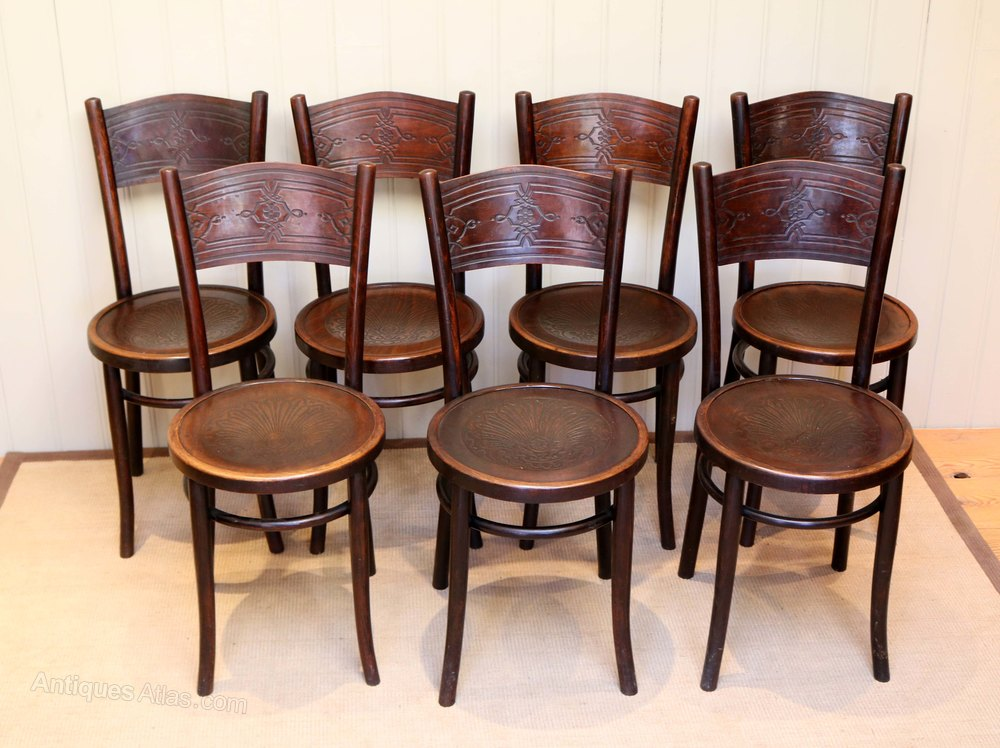 Set Of Bentwood Dining Chairs ...
