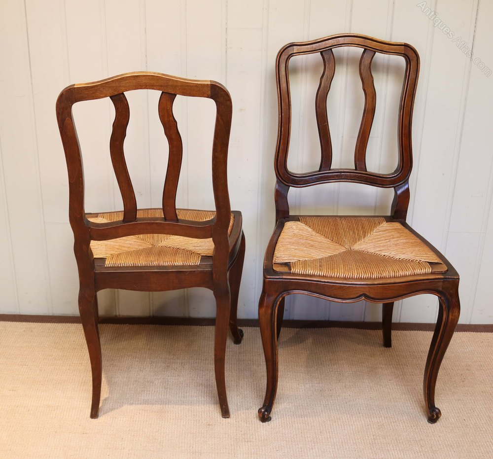 Set Of Six Beech Dining Chairs Antiques Atlas