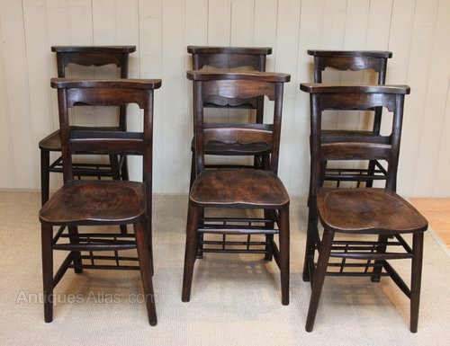 - Set Of Six Church Chairs - Antiques Atlas