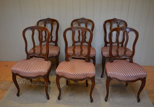 417c7a64d5179 Set Of Six French Oak Dining Chairs - Antiques Atlas