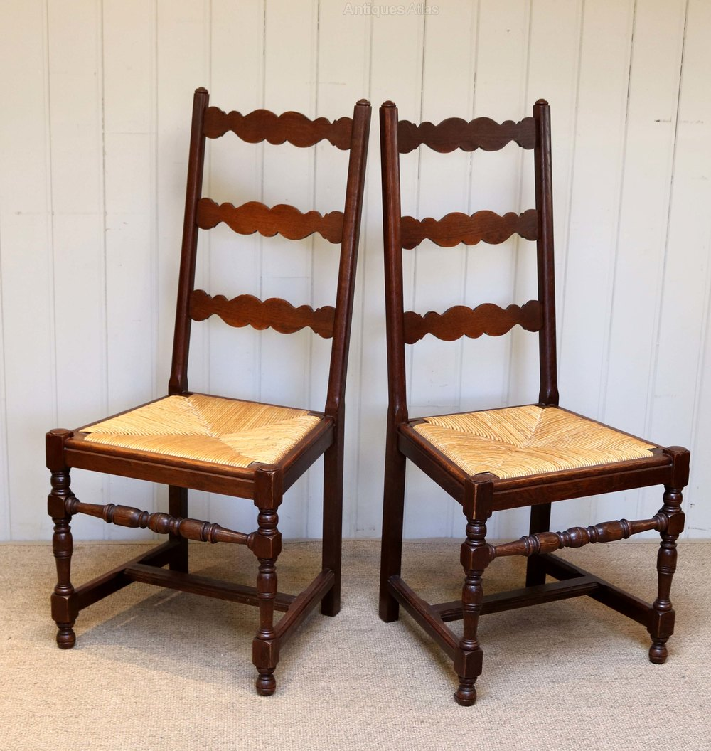 Antique Oak Chairs ~ Set of six french oak dining chairs antiques atlas