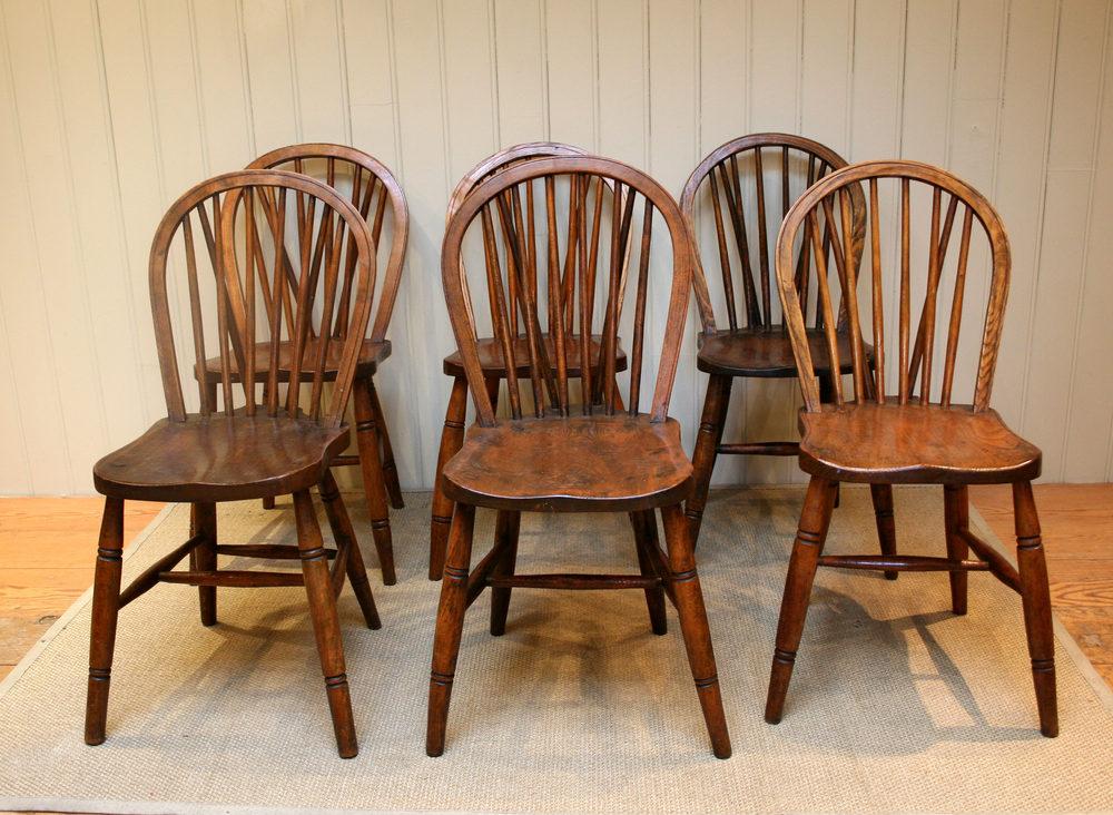 Set Of Six Hoop Back Windsor Chairs