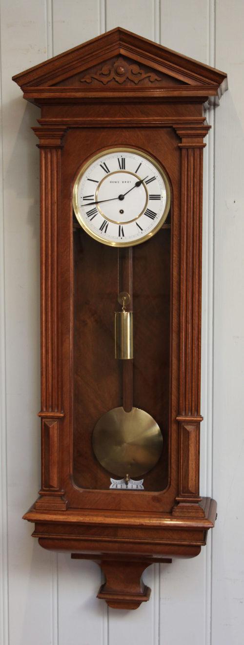 Antiques Atlas Slender Walnut Vienna Regulator Wall Clock