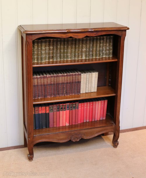 Small French Oak Open Bookcase Antiques Atlas