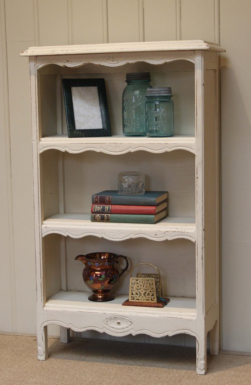 Small French Painted Open Bookshelves