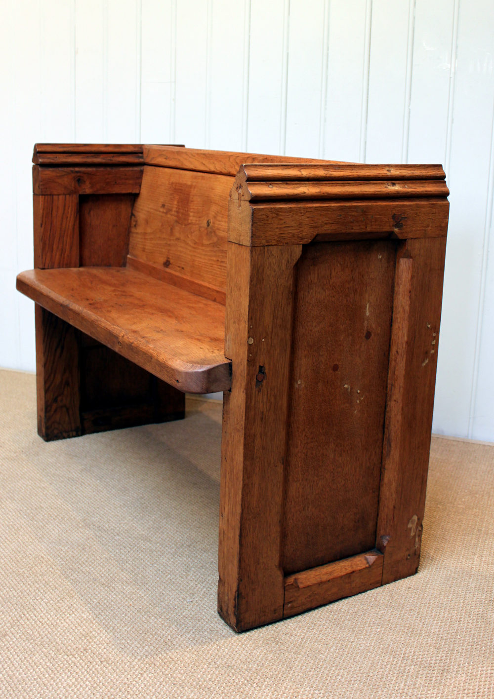 Small Light Oak Church Pew Antiques Atlas