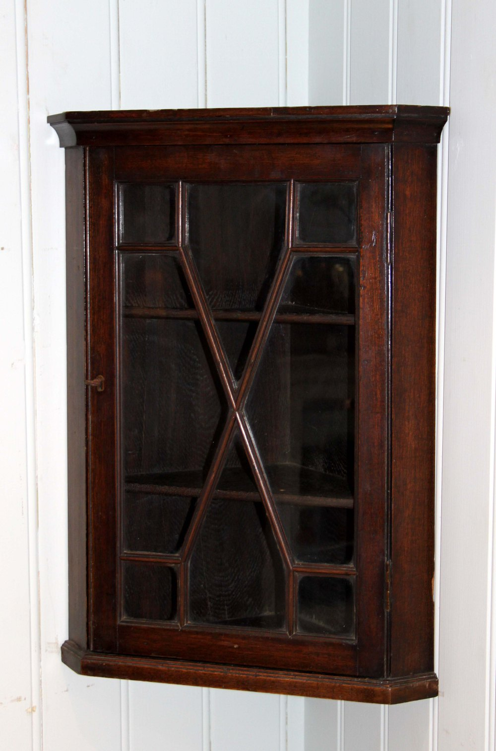 Small Mahogany Wall Mounted Corner Cabinet Antique Wall Cabinets ... - Small Mahogany Wall Mounted Corner Cabinet - Antiques Atlas