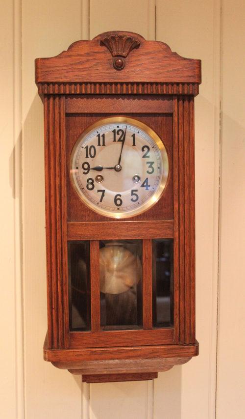 Antiques Atlas Small Oak Striking Wall Clock