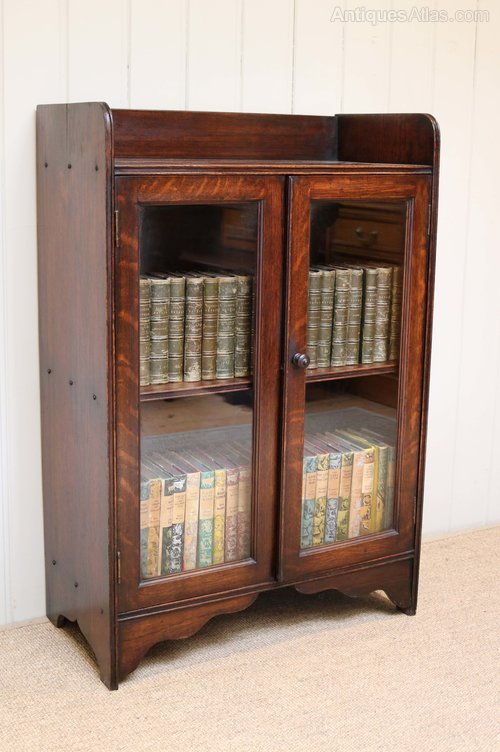 small bookshelf with doors small oak two door bookcase antiques atlas 26307
