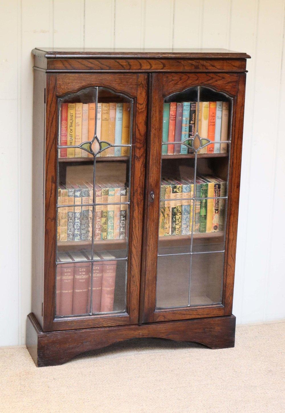 Small Proportioned Glazed Oak Bookcase Antiques Atlas