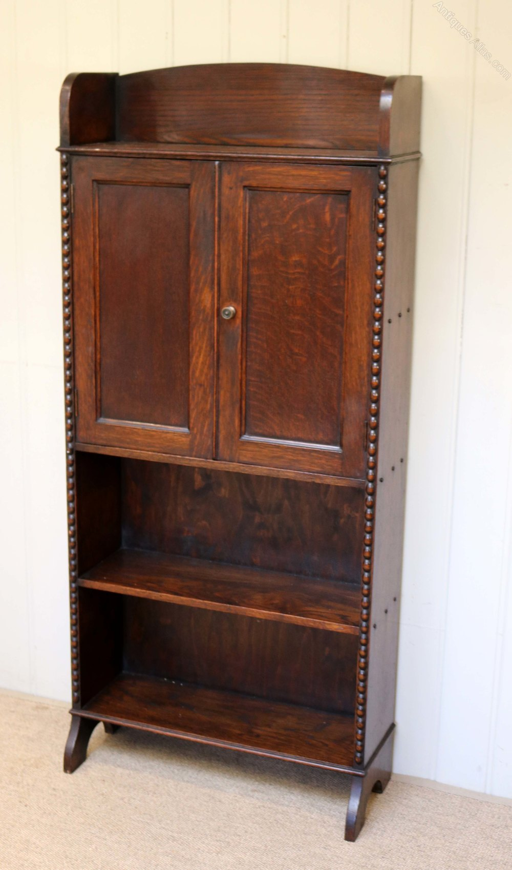 Small proportioned oak cabinet bookcase antiques atlas for Kitchen cabinets 50cm wide