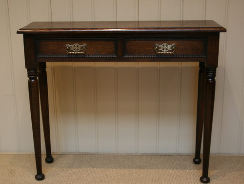 Charmant Solid Oak Narrow Hall Table Antique ...