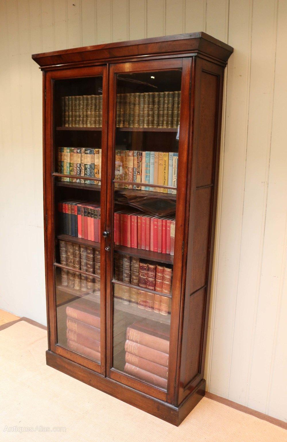 Tall Mahogany Bookcase - Antiques Atlas