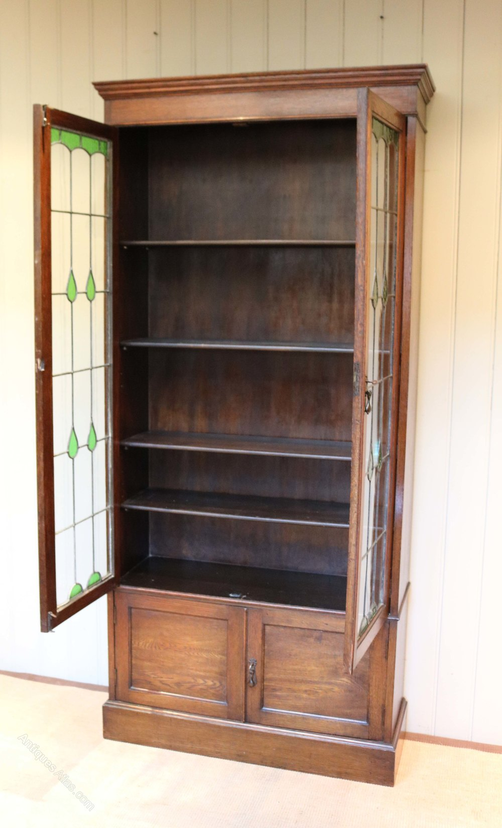 Tall oak cabinet bookcase antiques atlas for Kitchen cabinets 50cm wide