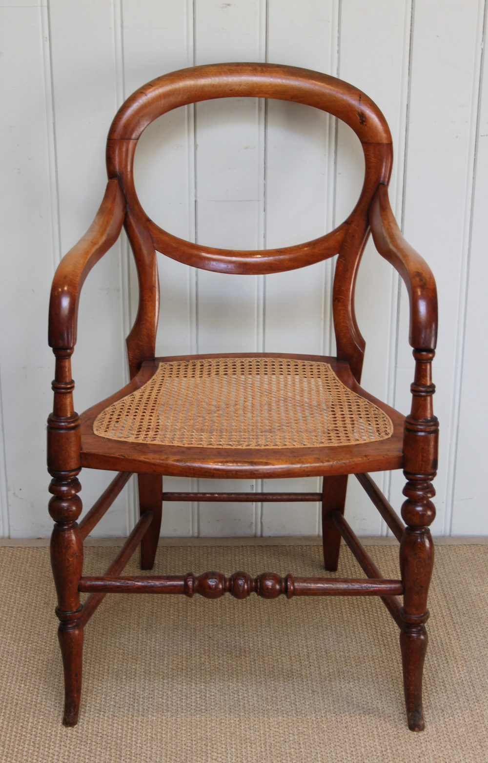 Victorian Cane Seated Balloon Back Chair ...