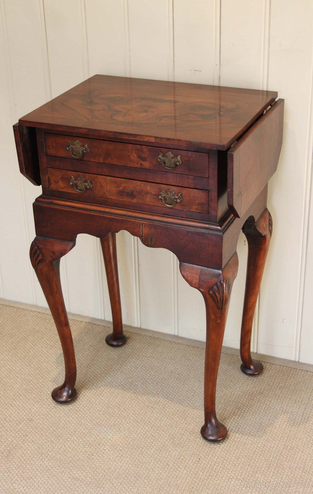 Superb Walnut Drop Leaf Side Table Antiques Atlas