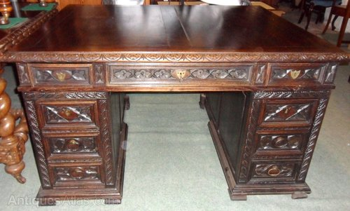 - Antique French Pedestal Desk - Antiques Atlas