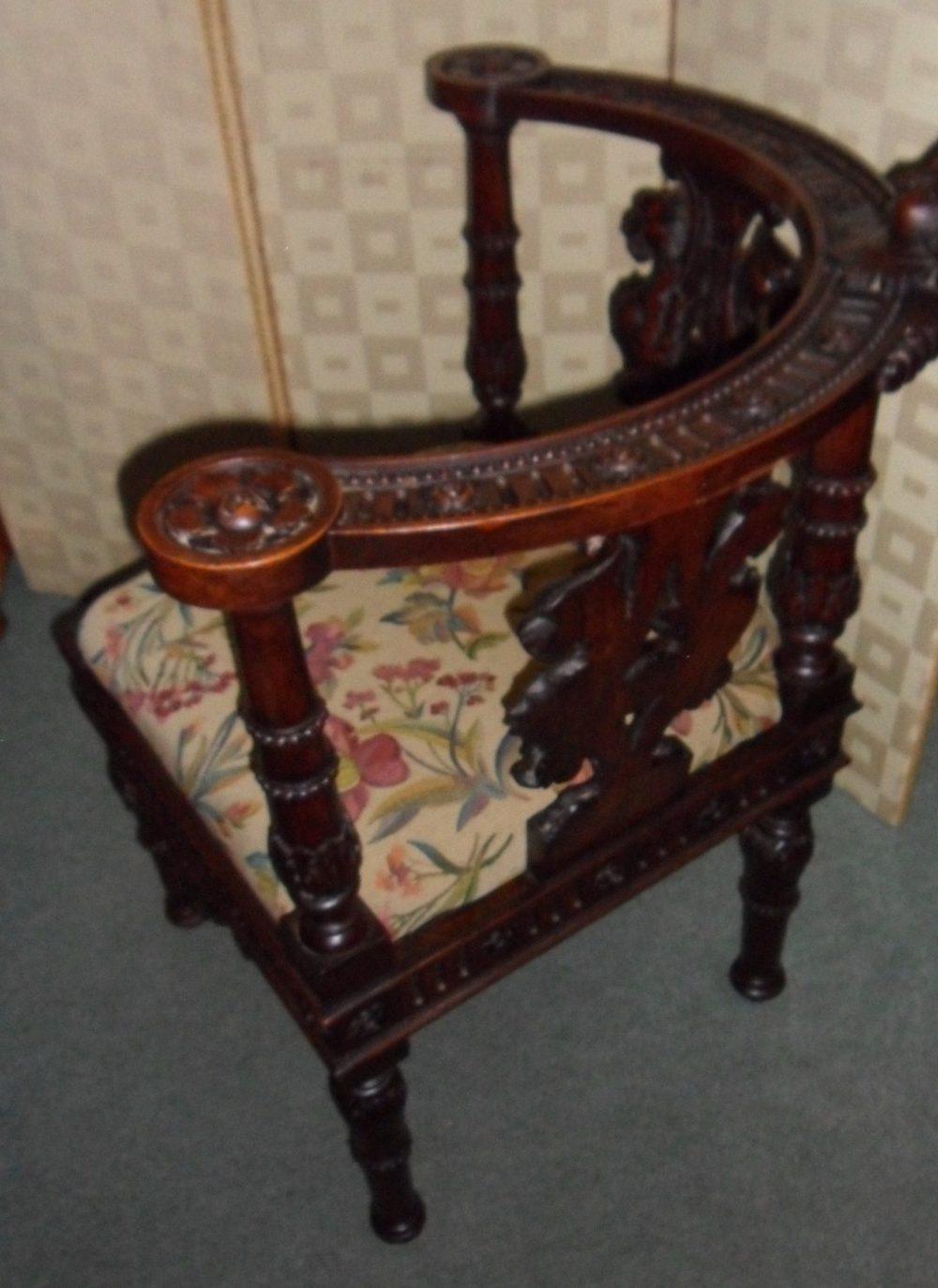 Victorian Corner Chair Antiques Atlas