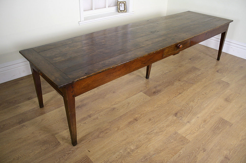 10.5Ft French Cherry Refectory Table (c.