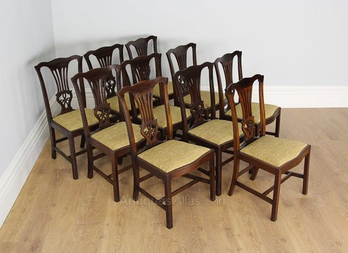 10 Edwardian Mahogany Chippendale Dining Chairs ... & 10 Edwardian Mahogany Chippendale Dining Chairs - Antiques Atlas