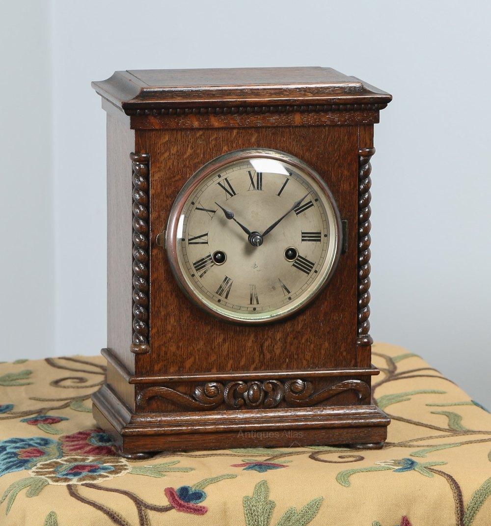 Antiques Atlas 11 German Gustav Becker Oak Mantel Chiming Clock