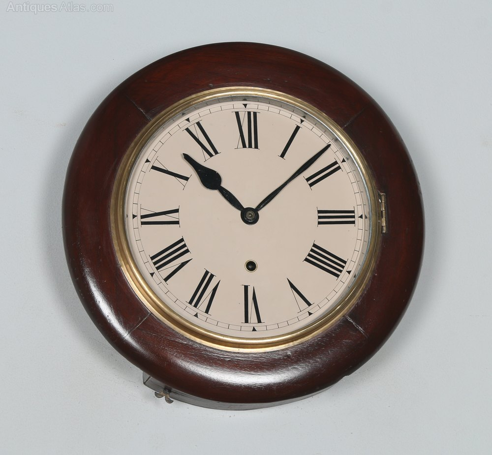 Antiques Atlas 14 Mahogany Ansonia Railway Wall Clock