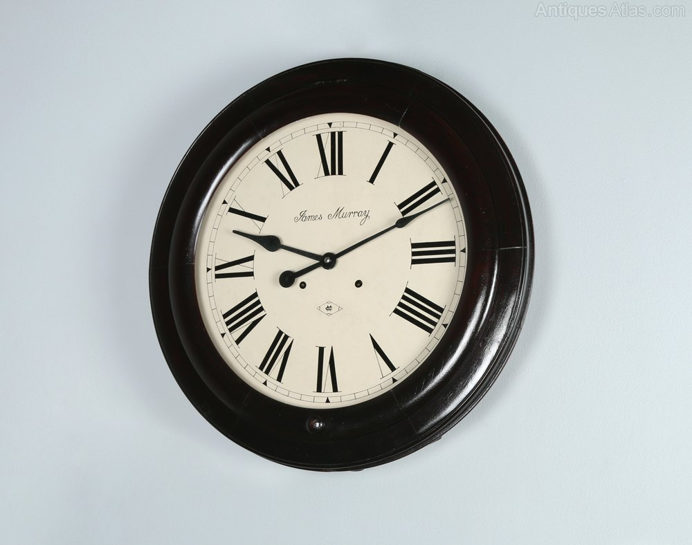 Antiques Atlas 21 James Murray Wall Clock Chiming