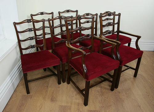Fine 8 Ribbon Back Chippendale Style Mahogany Chairs Antiques Atlas Short Links Chair Design For Home Short Linksinfo