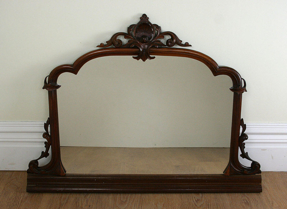 Antiques Atlas - Antique Victorian Carved Mahogany Mirror ...