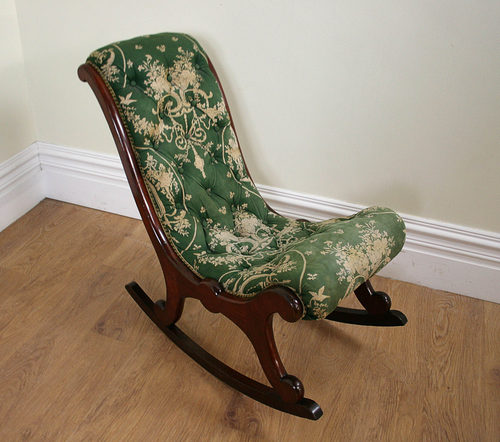 Antique Victorian Mahogany Rocking Chair (c.1850) - Antique Victorian Mahogany Rocking Chair (c.1850) - Antiques Atlas