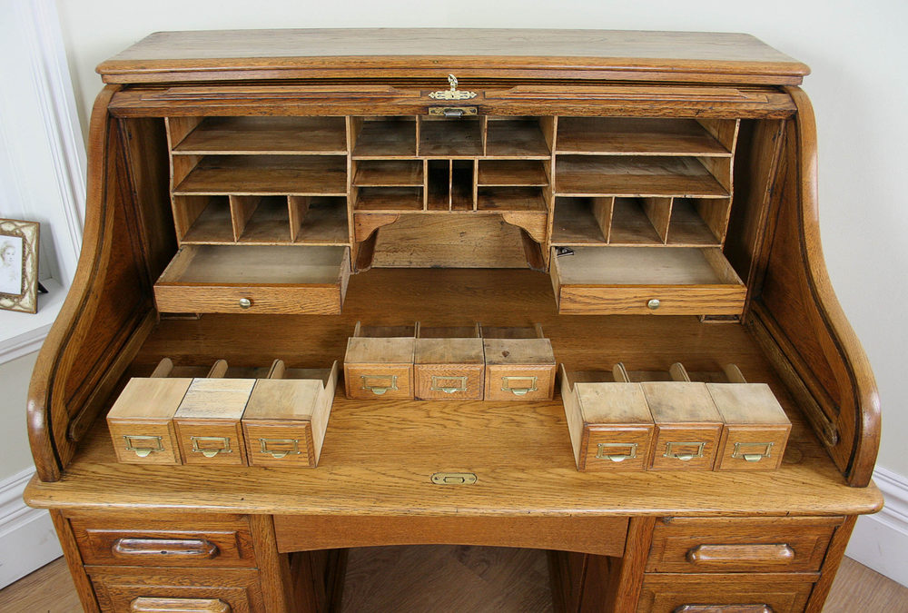 Antique Victorian Oak Roll Top Pedestal Desk Antiques Atlas
