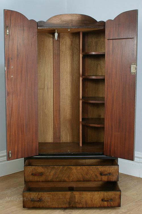 Alert Edwardian Art Nouveau/style Mahogany Single Wardrobe 100% Original Edwardian (1901-1910) Antique Furniture