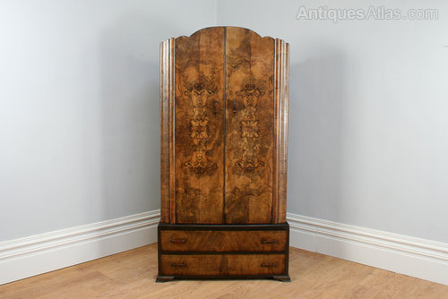 Alert Edwardian Art Nouveau/style Mahogany Single Wardrobe 100% Original Edwardian (1901-1910) Antique Furniture