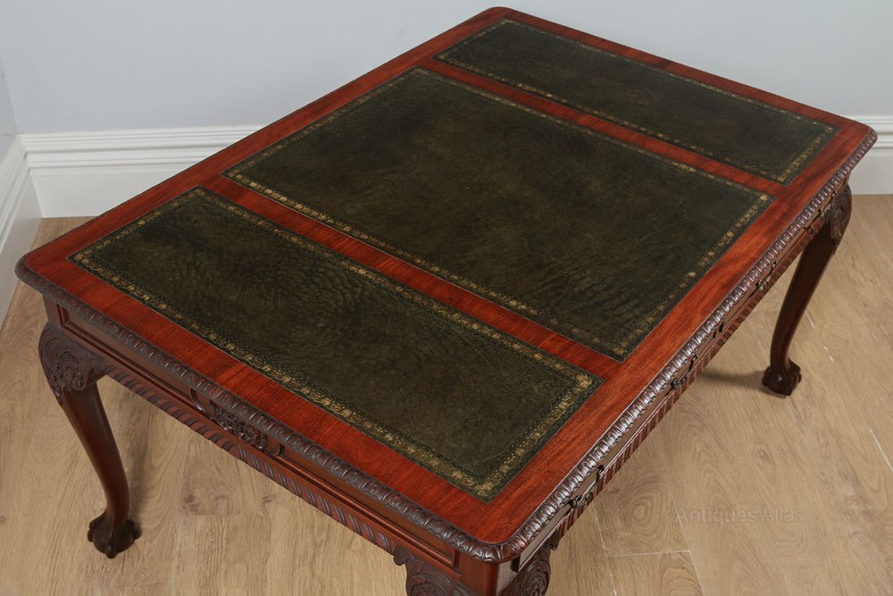 English Georgian Chippendale Style Library Table Antique Writing Desks