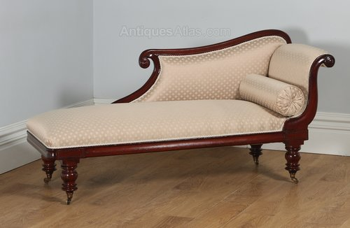 English regency mahogany upholstered chaise longue for Chaise longue in english