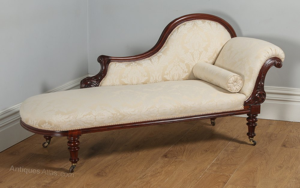 English victorian mahogany chaise longue antiques atlas for Chaise longue in english